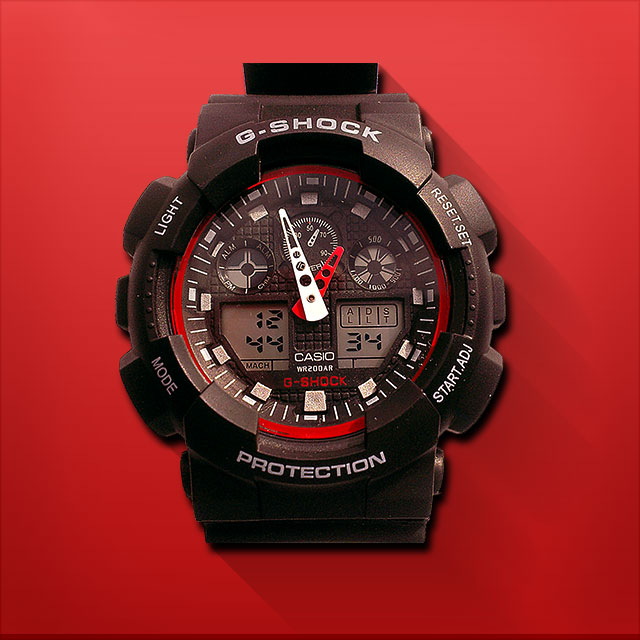 часы g shock черно красные если ваш